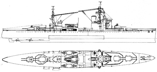 HMS London 69 1941 [Heavy Cruiser]