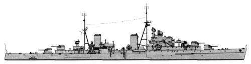 HMS Spartan (AA Cruiser) (1943)