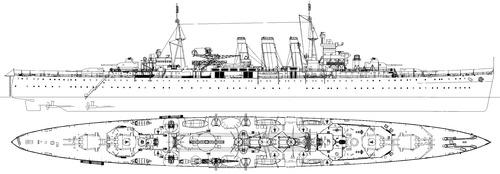 HMS Sussex 1942 (Heavy Cruiser)