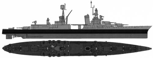 USS CA-35 Indianapolis (Heavy Cruiser) (1945)