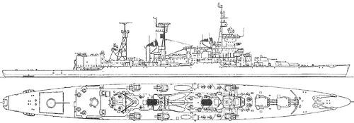 USSR - Admiral Senyavin 1973 [Sverdlov-class Cruiser]