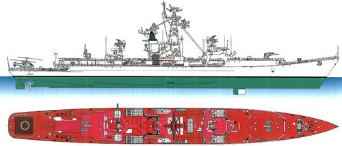 USSR Admiral Zozulya [Project 1134 Berkut Kresta I-class Cruiser]