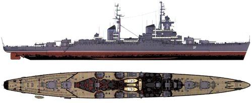 USSR Dzerzhinsky 1954 [Sverdlov Class Cruiser]