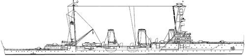 USSR Krasnyi Krym 1943 (ex Profintern ex Svetlana- Light Cruiser)
