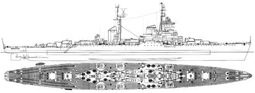 USSR Mikhail Kutuzov 1958 [Sverdlov Class Cruiser]