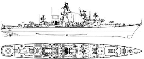 USSR Project 1134B Nikolayev 1972 Berkut B Kara class Cruiser