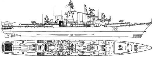 USSR Project 1134B Ochakov 1973 Berkut B Kara-class Cruiser