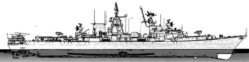 USSR Project 1134BF Kerch Berkut B Kara class Cruiser