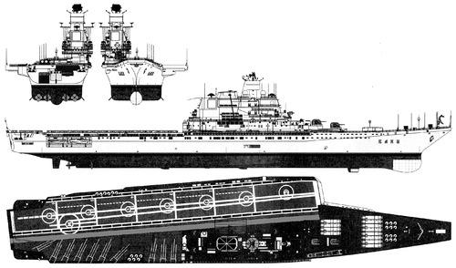 USSR Project 1143.4 Krechet 1988 Baku -class Heavy Aircraft-Carrying Cruiser
