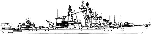 USSR Project 1164 Chervona Ukraina (Slava class Cruiser)