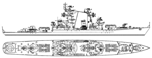 USSR Project 58 Grozny Admiral Golovko 1981 Kynda-class Guided Missile Cruiser