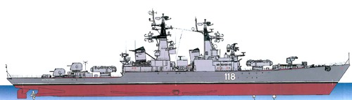 USSR Project 58 Grozny Admiral Golovko Kynda-class Guided Missile Cruiser