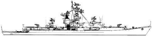 USSR Vize-Admiral Drozd ]Project 1134 Berkut Kresta I-class Cruiser]
