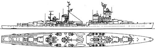 USSR Zheleznyakov 1975 (Project 68 Light Cruiser)