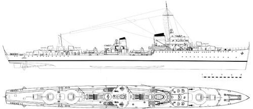 DKM Z17 Diether von Roeder 1939 (Destroyer)