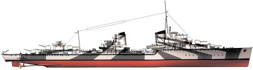 DKM Z6 Theodor Riedel 1942 (Destroyer)