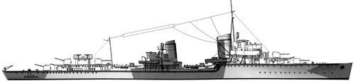 DKM Z7 Hermann Schoemann 1942 (Destroyer)