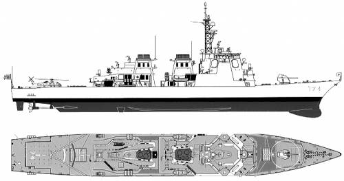 JMSDF DDG-174 Kirishima (Destroyer)