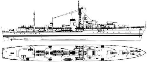 HMS Agincourt D86 (Destroyer)
