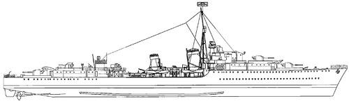 HMS Ashanti F51 1942 [Destroyer]