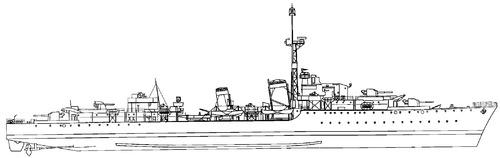 HMS Athabaskan 1942 [Destroyer]