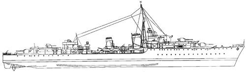 HMS Athabaskan 1943 [Destroyer]
