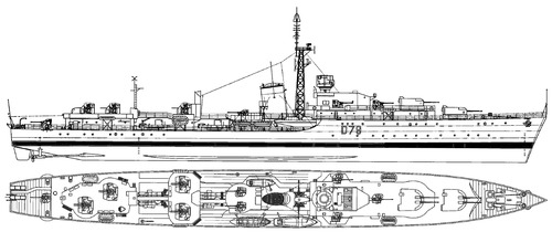 HMS Cadiz D79 1946 [Destroyer]