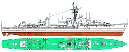 HMS Cavalier D73 1945 [Destroyer]