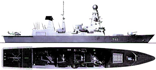 HMS Daring D32 (Type 45 Destroyer )