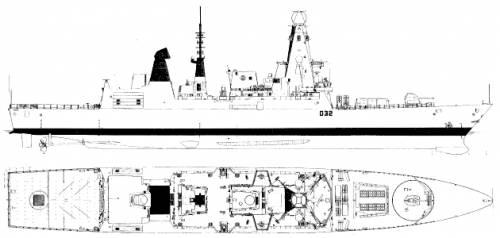 HMS Daring D-32 (Destroyer) (2008)