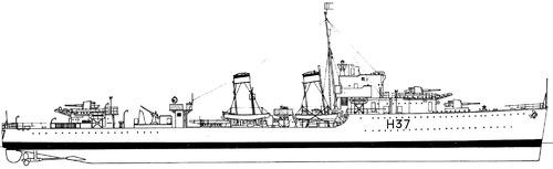 HMS Garland H37 1940 [Destroyer]