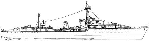 HMS Tartar F43 1944 [Destroyer]