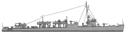 USS DD-139 Ward (1942)