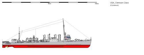 USS DD-186 Clemson