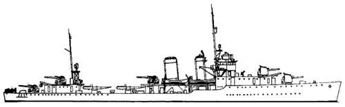 USS DD-348 Farragut (1938)