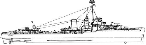 USS DD-349 Dewey 1944 [Destroyer]
