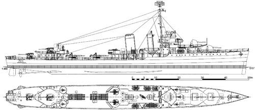 USS DD-350 Hull 1944 [Destroyer]