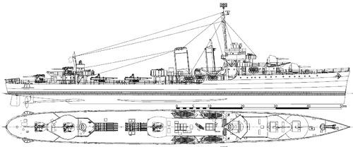 USS DD-352 Worden 1942 [Destroyer]