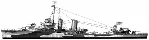 USS DD-353 Dale (Farragut Class Destroyer) (1944)