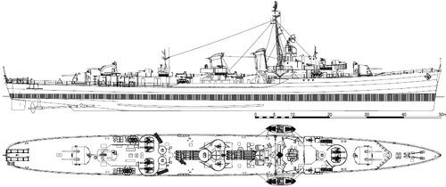 USS DD-357 Selfridge 1944 [Destroyer]