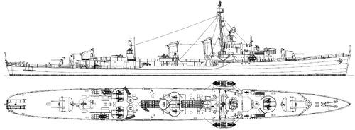 USS DD-357 Selfridge 1945 [Destroyer]