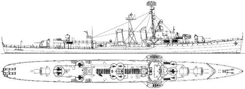USS DD-359 Winslow 1945 [Destroyer]