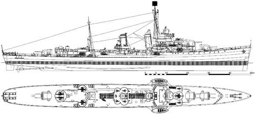 USS DD-362 Moffet 1944 [Destroyer]