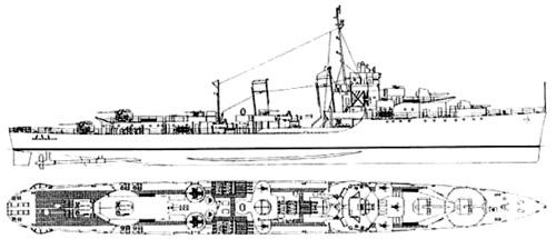 USS DD-366 Drayton (1944)
