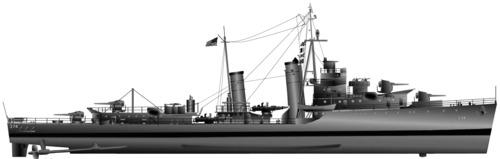 USS DD-374 Tucker