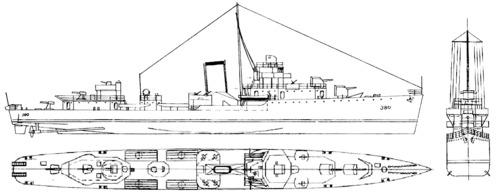 USS DD-380 Gridley