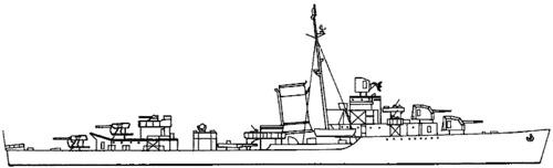 USS DD-380 Gridley (1943)