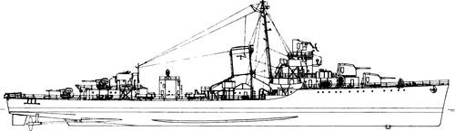 USS DD-390 Ralph Talbot [Destroyer]