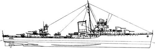 USS DD-401 Maury [Destroyer]