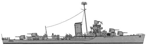 USS DD-405 Rowan (1942)